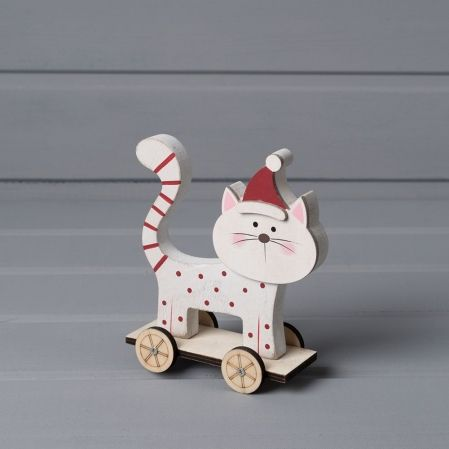743/51960 IRIS(Sale) кот на колёсах дерево 12,5*10,5см