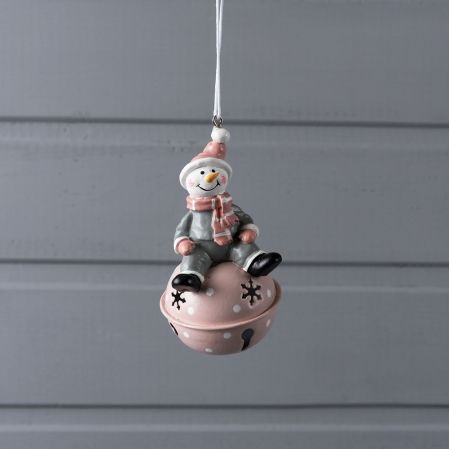 743/89033(Sale) IRIS подвес снеговик на бубенчике металл 9*5,5см