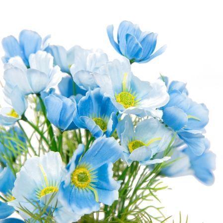 КС/О56-4 Космея (синяя) в декор. кашпо h-27см