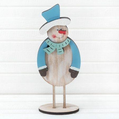816/18-2(Sale) Снеговик на ножках  (голубой) 11*h26см