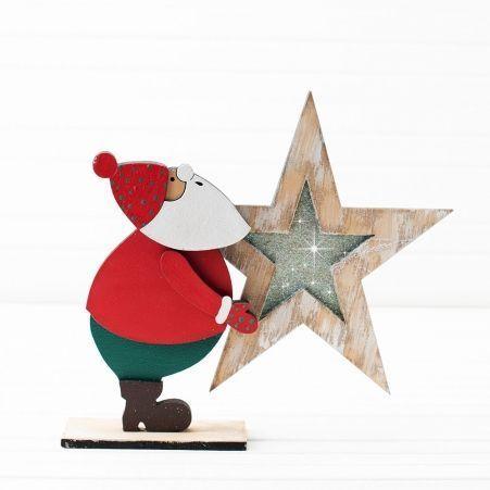 816/13-1/2(Sale) Дед Мороз со звездой (красн-зелен) 26*h23см