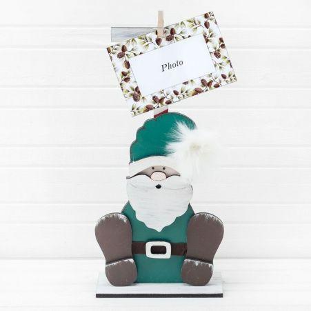 "810/020-1(Sale) Фоторамка ""Дед Мороз"" (зеленый) 17*h37см"