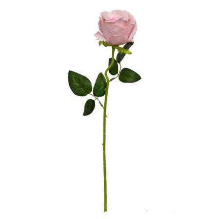 7141/0044-5/16 Роза  искусственная бархатная h 50см светло-сиреневая