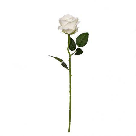 7141/0044-5/23 Роза  искусственная бархатная h 50см белая