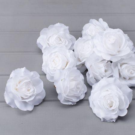 7146/0872-10 Голова розы раскрыт. (12шт/уп) (белая)