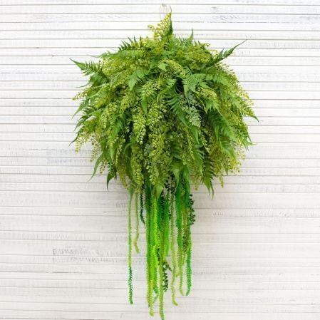 ККД85/303(з.) Кокедама папор.с зелен.(полн.заполнен.)d-60;h-105см