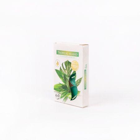 Свеча арома, гильза (6 шт.) Р15-274,tropik.wyspa (тропич.остров)