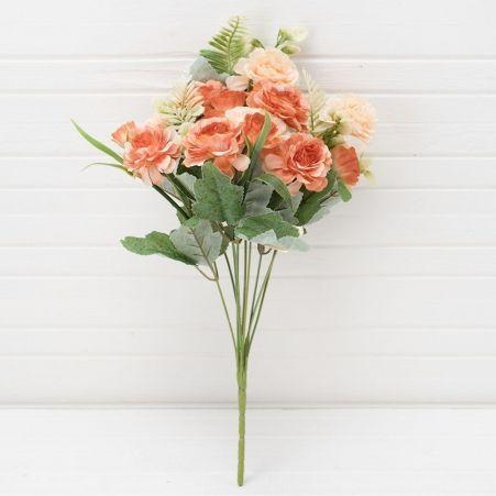 7142/0377-4 Букет розы пионовидной*10в h-40см