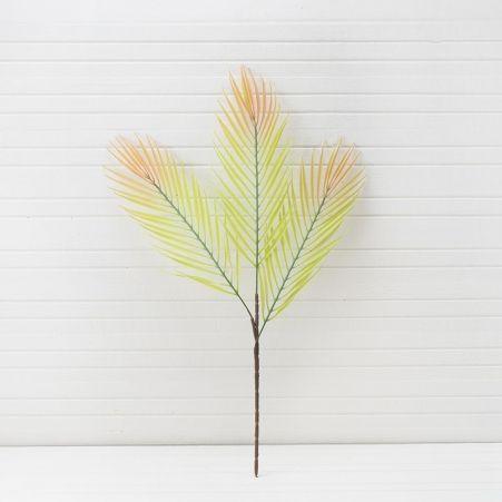7143/0377-1 (Sale) Ветка пальмы искусственная, пластик, h 65 см