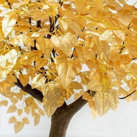 300разб/83-1 Дерево интерьерное золотое  (шир.-180см)h-300см