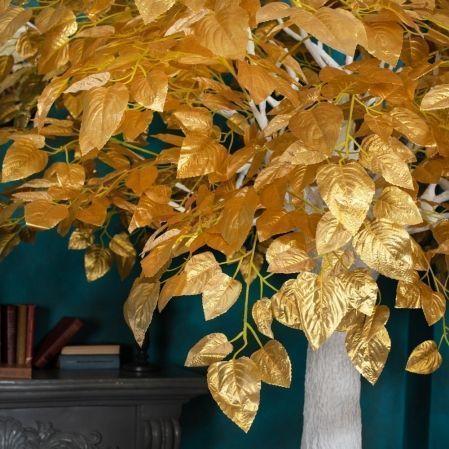 300разб/83-2 Дерево интерьерное золотое (шир.-180см)h-300см