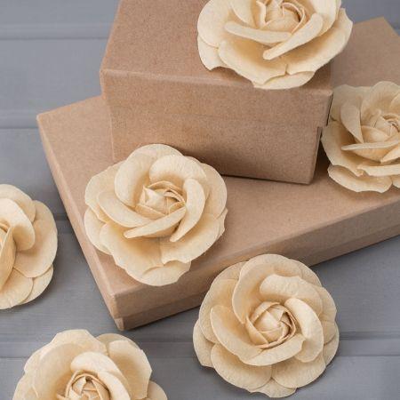 741/40236-01 Роза из фетра крем.8,5см (10шт/уп)