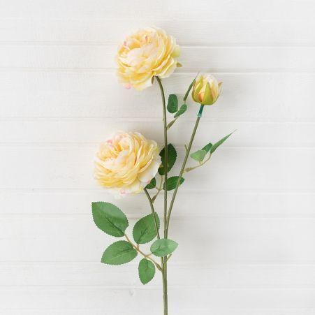 7141/0045-4/12 Роза пионовидная искусственная h 65см чайная (2г.1б.)