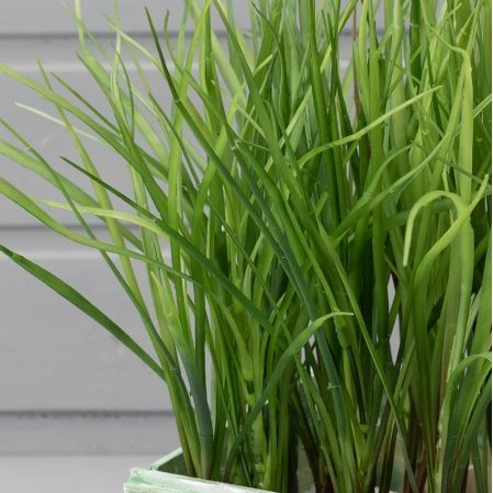 ТД032-52 Трава зеленая h23(латекс) в деревянном ящике(14*14*9см)