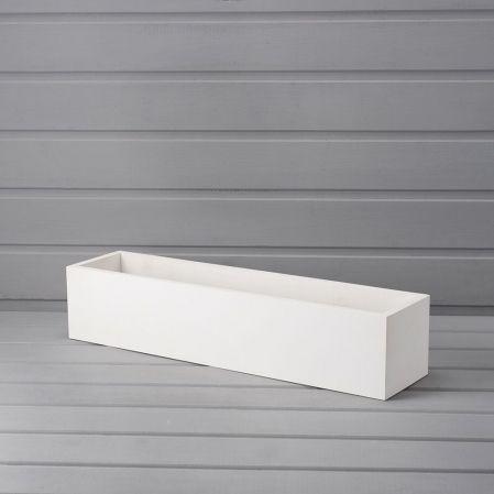 ТД076-1 Бегония вишневая в белом ящике (50*10*12см)