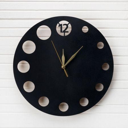 """801/048-1 Часы """"Минимализм Круг"""" (черн) (d-35см)"""