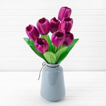 7142/0452-3 Букет тюльпанов из 9-ти h-45см