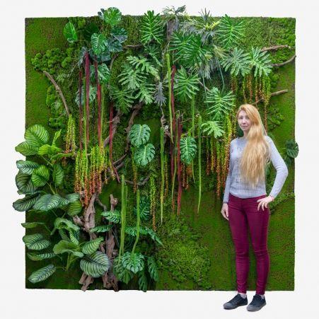 Фитостена 88 Рельеф с тропич.растениями