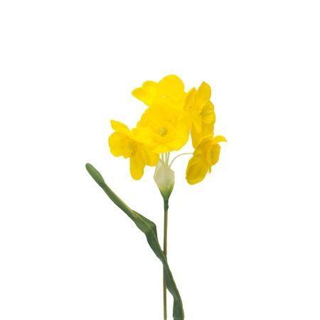 401/0024-3L Нарцисс искусственный h-45см желтый (1г)