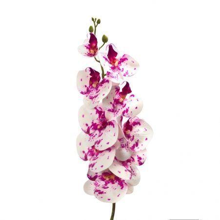 401/0187-27В Орхидея искусственная латекс h 95см кремово-пурпурная (9г.)
