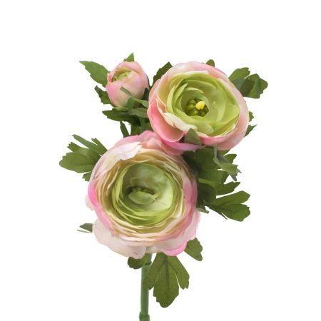 401/0523-1А Ранункулюс искусственный розовый h 34см (2г. 1б.)