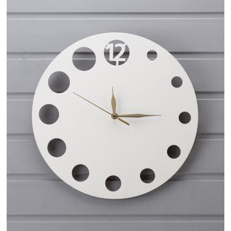 """801/048-2 Часы """"Минимализм Круг"""" (белые) (d-35см)"""