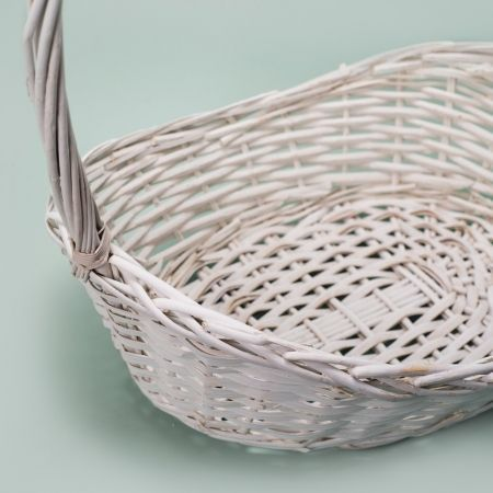 20/9016О Корзина плетеная белая овал (48х35х12(h54см)