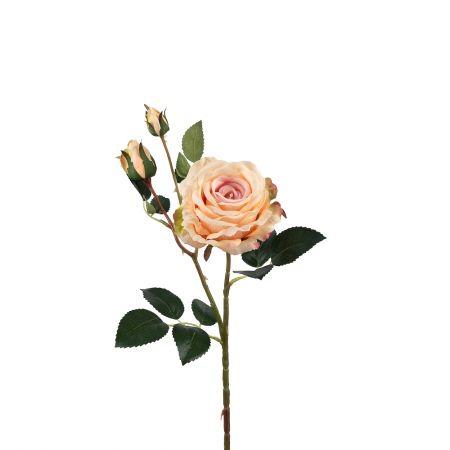 401/0020-13L Роза велюр искусственная h-78см персиковая (1г+2б)