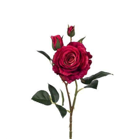 401/0020-7L Роза велюр искусственная h-78 цикламен (1г+2б)