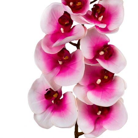 401/0012-1L Орхидея искусственная латекс h-99см розовая (8г+5б)