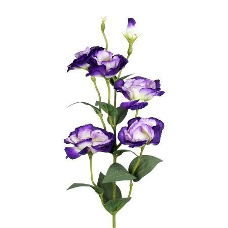 401/0006-17L Эустома ветка искусственная h-85см фиолетовая (4г+2б)