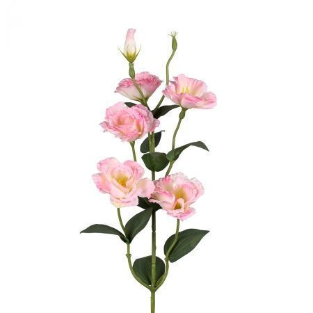 401/0006-1L Эустома ветка искусственная h-85см розовая (4г+2б)