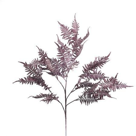 7143/0016-34-1/1-3 ветка Папоротник высокий h=80см (45+35) пепельно-розовый