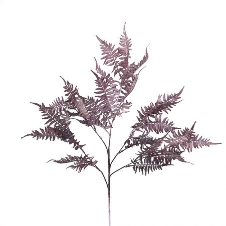 7143/0016-34-1/1-3 Ветка Папоротника искусственная, пепельно-розовый,h 80 см (45+35)