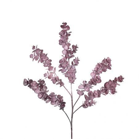 7143/0016-36/1-3 Ветка Эвкалипта искусственная, пепельно-розовая. h 75 см (40+35)