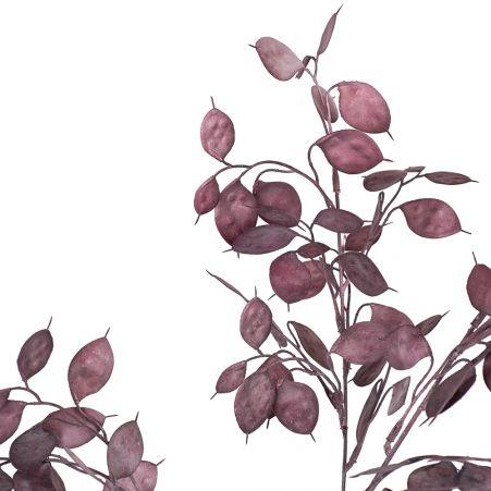 7143/0016-38/1-3 Ветка Лунария искусственная, пепельно-розовая, h 75 см (40+35)