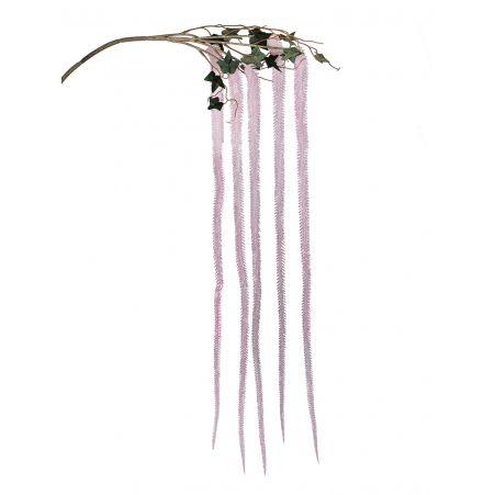 7143/0030-10/1 Ветка Амаранта искусственная, розовая, h 150 см (75+75)