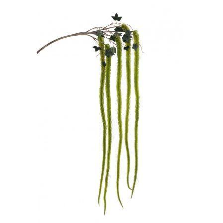 7143/0030-10/9(Promo) Ветка Амаранта искусственная, зеленая, h 150 см (75+75)