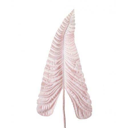 7143/0030-13/1(Promo) Лист Каладиума искусственный, розовый, гигант h 107 см (67+43)