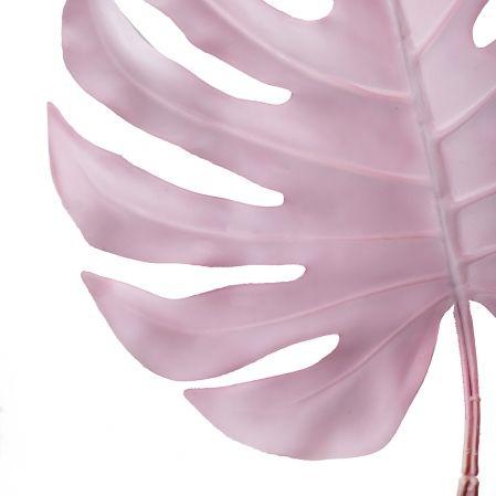 7143/0030-6/1(Promo) Лист Монстеры искусственный, розовый, большой h 90 см (40+50)