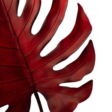 7143/0030-6/11(Promo) Лист Монстеры искусственный, бордовый, большой h 90 см (40+50)