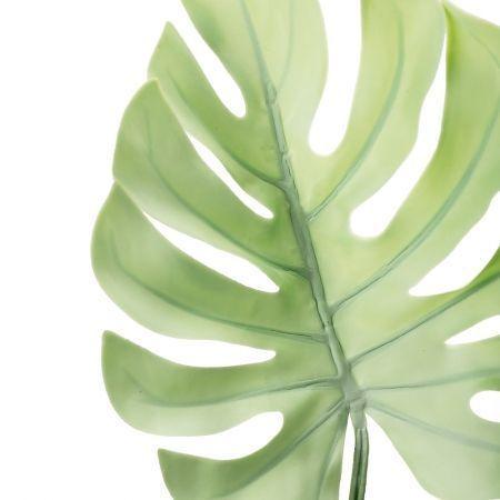 7143/0030-7/22 Лист Монстеры искусственный, мятный, маленький, h 75 см (32+43)