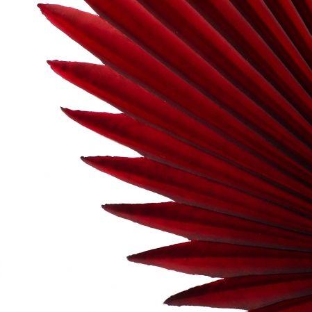 7143/0030-8/11(Sale) Лист Веерной пальмы, искуственный, бордовый, h 88 см (35+53)