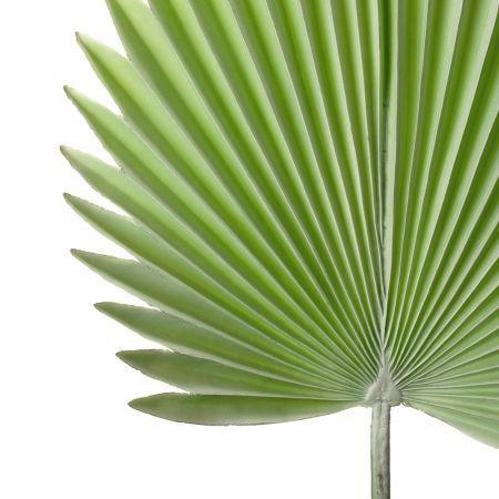 7143/0030-8/22 Лист Веерной пальмы искусственный, мятный, h 88 см (35+53)