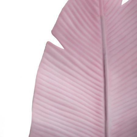 7143/0030-9/1(Promo) Лист Банана искусственный, розовый, h  92 см (45+47)
