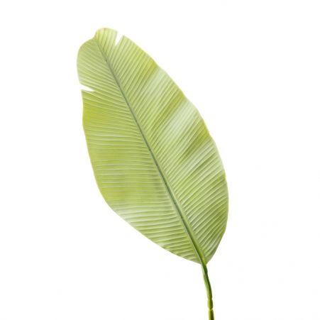 7143/0030-9/22 Лист Банана искусственный, мятный, h 92 см (45+47)