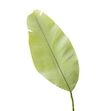7143/0030-9/22(Promo) Лист Банана искусственный, мятный, h 92 см (45+47)