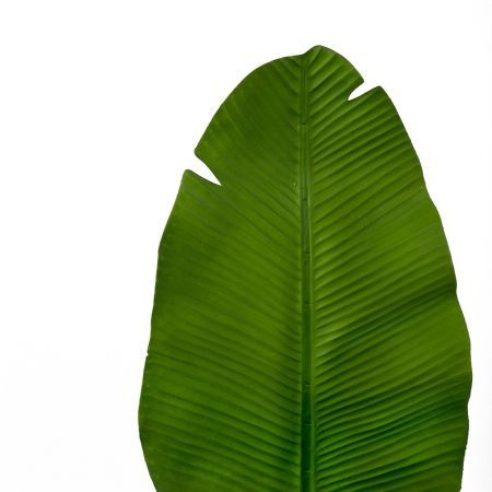 7143/0030-9/9 Лист Банана искусственный, зеленый, h 92 см (45+47)
