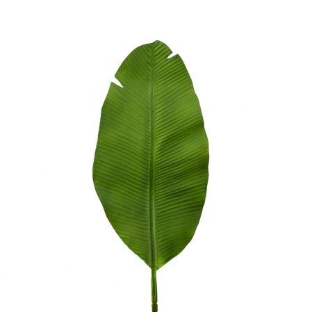 7143/0030-9/9(Promo) Лист Банана искусственный, зеленый, h 92 см (45+47)