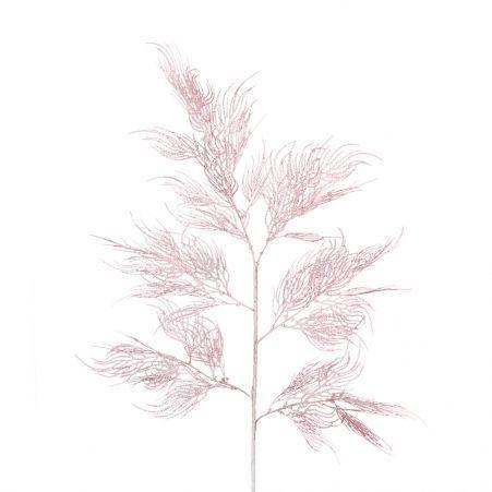 7143/0041-3/1 Ветка Павлиньи перья искусственные, розовые, h 105 см (63+42)